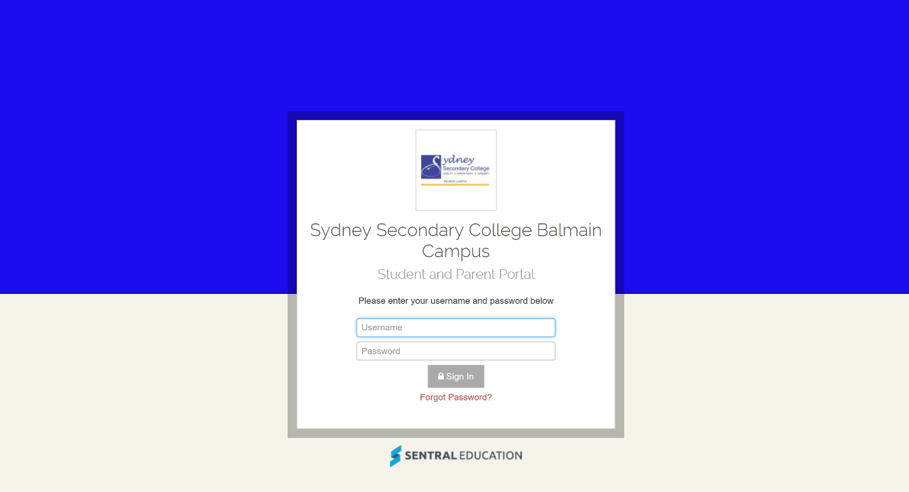 Sentral portal sydney secondary college balmain campus for H portal